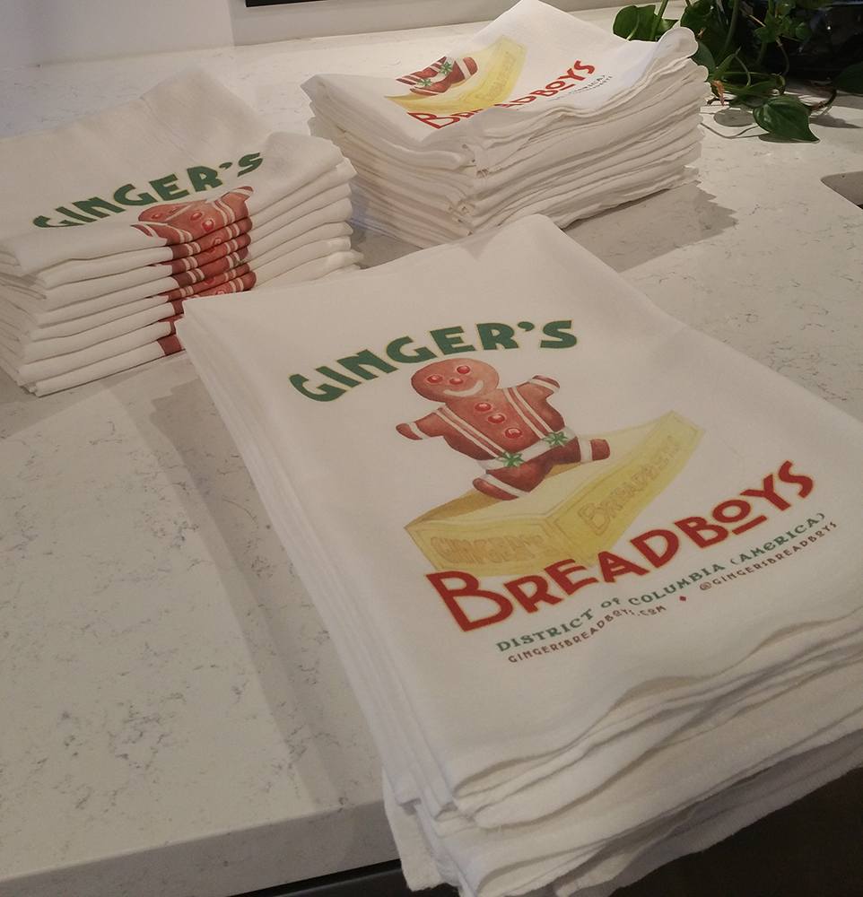 Flour sack kitchen tea towels from Ginger's Breadboys